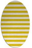 rug #163773 | oval white stripes rug