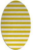 rug #163797   oval white stripes rug