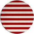 rug #164441   round red stripes rug