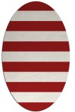 rug #167265 | oval red retro rug