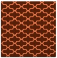 rug #168625 | square red-orange geometry rug