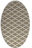 rug #168777 | oval beige geometry rug