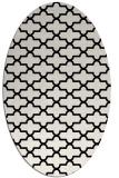 rug #168781 | oval black geometry rug