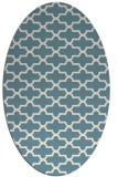 rug #168801 | oval white geometry rug