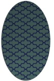 rug #168809 | oval blue traditional rug