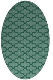 rug #168833 | oval blue-green popular rug