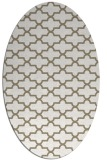 rug #168917 | oval white traditional rug