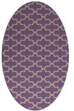 rug #168957 | oval purple traditional rug