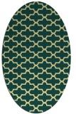 rug #168981 | oval yellow traditional rug