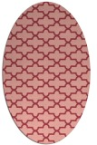 rug #168993 | oval pink traditional rug