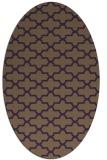 rug #169009 | oval purple traditional rug