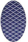 rug #169057 | oval blue popular rug