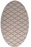 rug #169117   oval pink rug