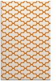 rug #169321    orange geometry rug