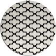rug #169485 | round black popular rug