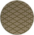 rug #169601   round mid-brown traditional rug