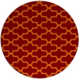 rug #169669 | round red-orange traditional rug