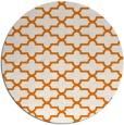 rug #169673 | round orange traditional rug