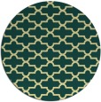 rug #169685 | round yellow traditional rug