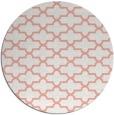 rug #169701 | round white geometry rug
