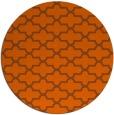 rug #169745 | round red-orange traditional rug