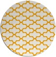 rug #169817 | round light-orange traditional rug