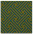 rug #170245 | square green retro rug