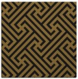 rug #170301   square mid-brown geometry rug