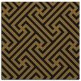 rug #170301 | square mid-brown retro rug