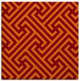 rug #170373 | square orange retro rug