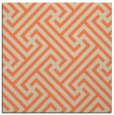 rug #170381 | square orange retro rug