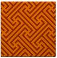 rug #170441 | square red-orange geometry rug
