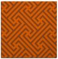 rug #170449   square red-orange retro rug