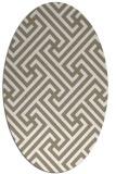 rug #170537 | oval white retro rug