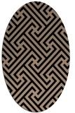 rug #170549   oval beige retro rug