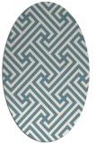 rug #170561 | oval white retro rug