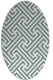 rug #170562 | oval retro rug