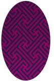 rug #170565 | oval pink retro rug