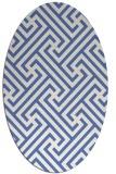 rug #170577 | oval blue retro rug