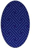 rug #170641   oval blue-violet geometry rug