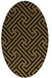 rug #170653 | oval mid-brown retro rug