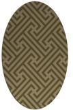 rug #170657 | oval brown rug