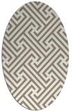 rug #170677 | oval white geometry rug