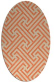 rug #170733 | oval orange retro rug