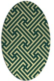 rug #170741 | oval yellow retro rug