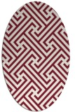 rug #170749   oval pink retro rug