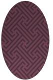 rug #170761 | oval purple retro rug
