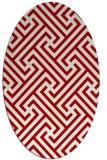 rug #170777   oval red rug