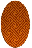 rug #170793 | oval red-orange geometry rug
