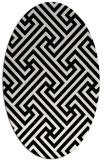 rug #170809   oval white geometry rug